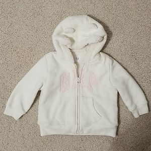 Baby Gap zip up sweater Girl 12-18M